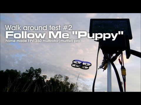 "Follow Me ""Puppy"" drone walkaround test."