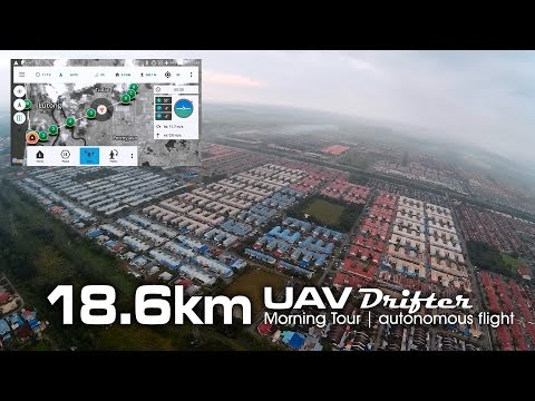 18.6km Morning Tour, UAV drone - Drifter ultralight