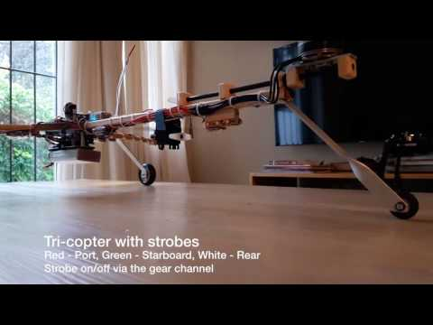 Tricopter with nav lights