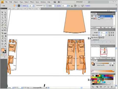 "Exploring problems of ""joining"" / Fashion Flat Sketching in Adobe Illustrator for Fashion Design"