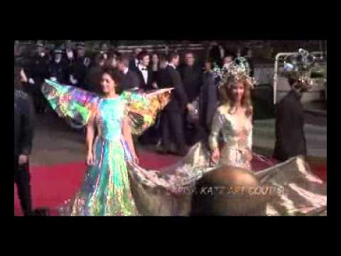 Larisa Katz  & Tinus D  walking the red carpet (L'Apollonide) Premiere, Cannes Film Festival 2011