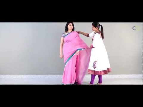 Learn step by step how to drape a saree