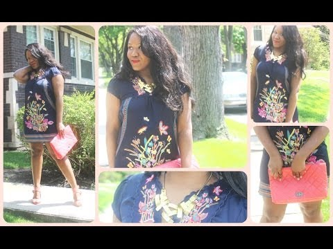 2014 Spring and Summer OOTD - Butterfly Dress With Pops Of Tangerine