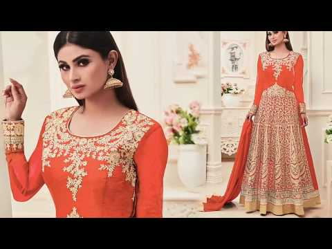 Bollywood Actress Dresses Online: Gown Style Punjabi Designer Dress/Suit Worn By Bollywood Actresses