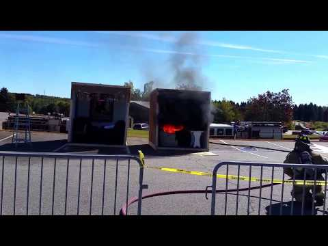 Demonstration captures speed of today's home fires & power of sprinklers