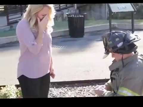 Firefighter surprise engagement proposal