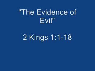 The Evidence of Evil