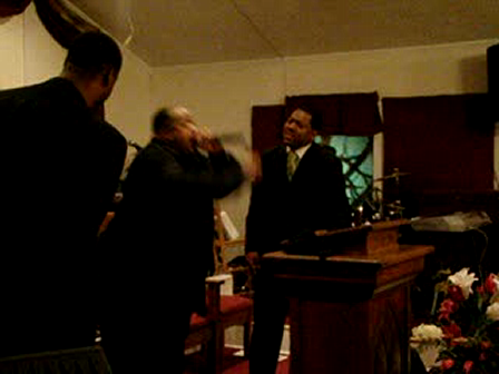 Bishop Wiley preaching from Ephesians 3:20