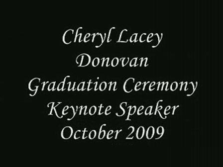 graduation keynote speaker October 2009