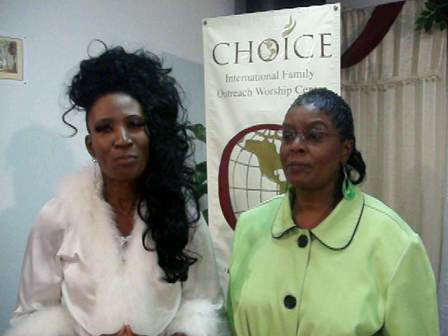Prophetess Cheryl Hopkins & Mother Jasmine