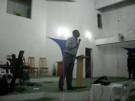 Pastor Pedro Chagas Preaching at Alto do Cruzeiro Baptist Church - Brazil