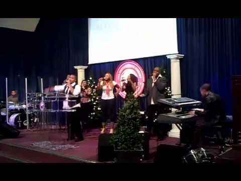 Pastor Marshall Leading Worship After Ministering