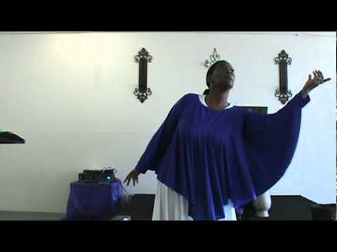 Pastor Bonny Hargrove ministering in dance
