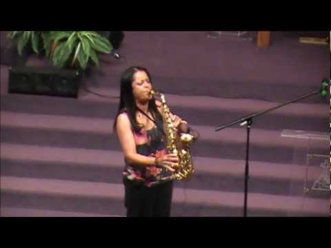 Praise and Worship on Sax at the Women's Conference of Garland (Mt Hebron Church)