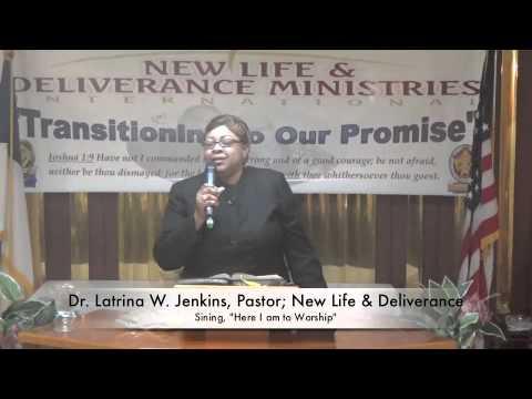 "Dr. Latrina W. Jenkins, Singing ""Here I am to Worship"""