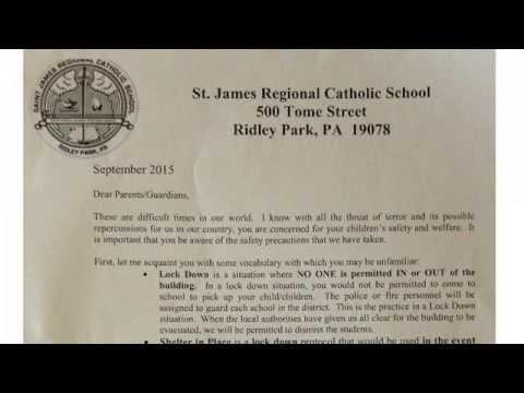 ALERT! Strange September 18th Warning Letter On Chemical Release Near Philadelphia School
