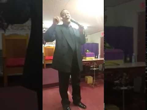 Bishop Gerry Grant singing in Jackson Mississippi