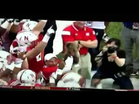 Bo Pelini and Cat Make Sportscenter Spring Game 2014