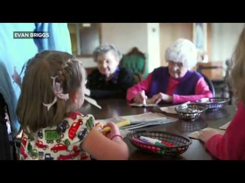 Seattle Preschool in a Nursing Home 'Transforms' Elderly Residents   ABC News