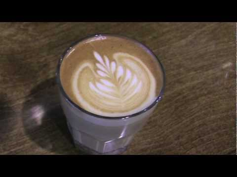 Latte Art: Rosetta and Heart