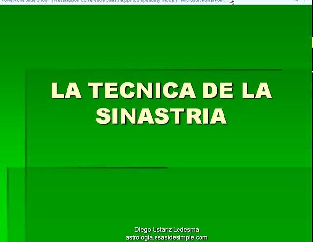 La tecnica de la Sinastría 1 de 9