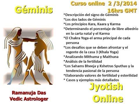 CURSO SIGNO DE GEMINIS 1 Astrologia Vedica (Ramanuja Das)