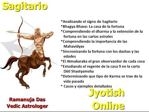 CURSO SIGNO DE SAGITARIO VIDEO 1 Astrologia Vedica (Ramanuja Das)
