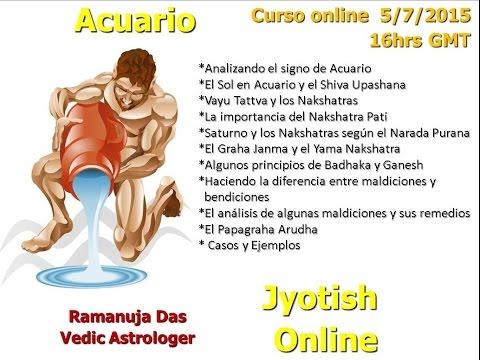 CURSO SIGNO DE ACUARIO 1 Astrología Védica (Ramanuja Das)