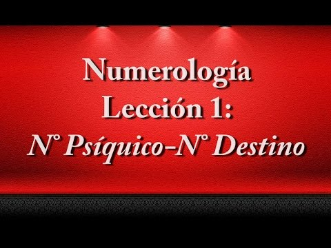 Lección Primera de Numerología
