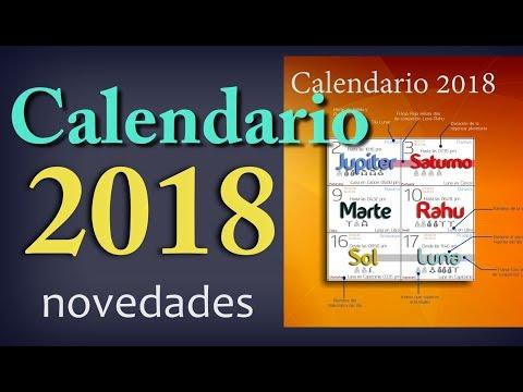 CALENDARIO ASTROLÓGICO 2018-Novedades