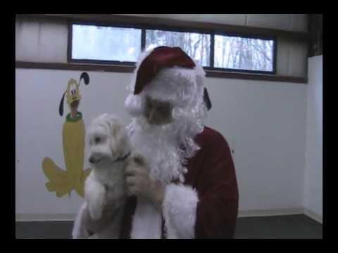 Santa Visits G & M's Daycare