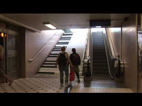 Fun stairs vs. boring escalator