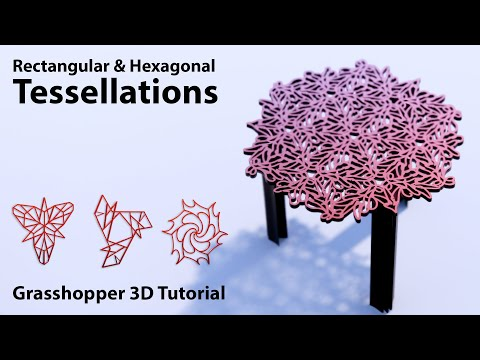 Computational Tessellation Tutorial in Grasshopper3d inspired by M.C. Escher graphic art
