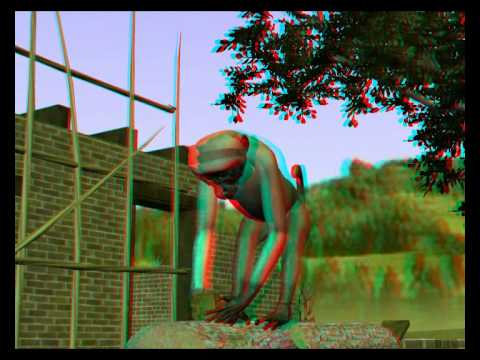 monkey & log in 3D