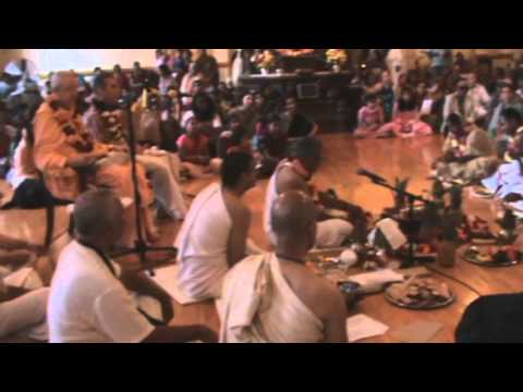 Initiation Ceremony by Romapada Swami in ISKCON Chicago