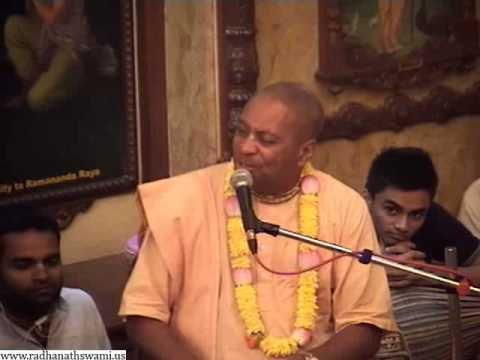 Prerana Festival Lecture on Success through Spiritual Greed and Lust by Devamrita Swami and Radhanath Maharaj in ISKCON Chowpatty