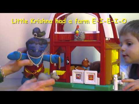 Little Krishna Had a Farm - Nursery Rhyme