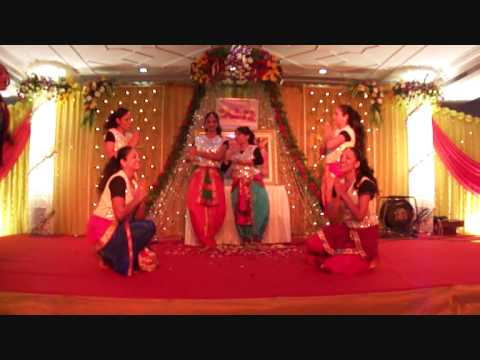 Mathura Vasi Devi Dasi with Transcendental New Year Dance 2012 at ISKCON Juhu