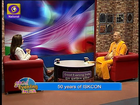 50th Anniversary of ISKCON's Incorporation on 13 July, Program aired on DD National Channel India