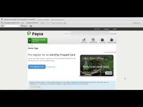 Como crear una cuenta en Payza y validarla