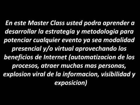 Negocios en Internet - Event Marketing Master Class en Internet para sus Negocios
