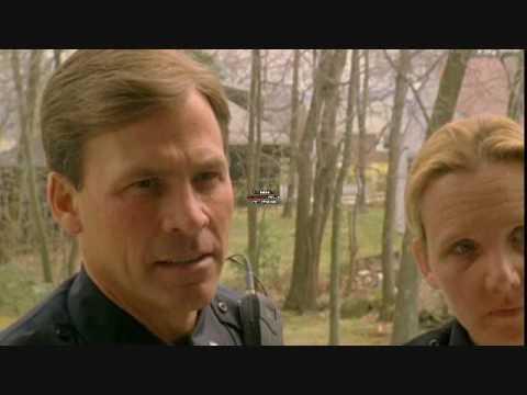 Jeff Corazzini and Suzanne Gilles arresting Frank Cacciola in upcoming film