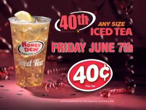 Honey Dew Donuts 40th Anniversary Special 1 - Iced Tea