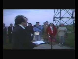Oh say can you see by the one light in all. Earth Day 1990 Sunrise dedication