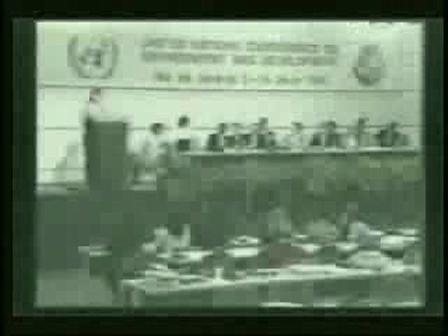 Discours à l'ONU sur l'environnement