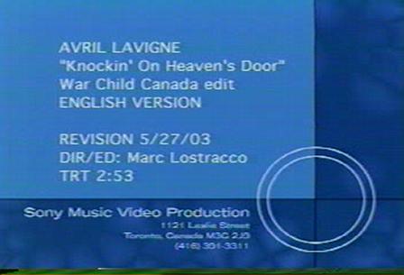 avril lavigne's Knockin On Heaven's Door