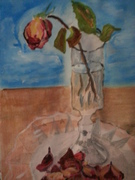 Rose still-life paintings 001