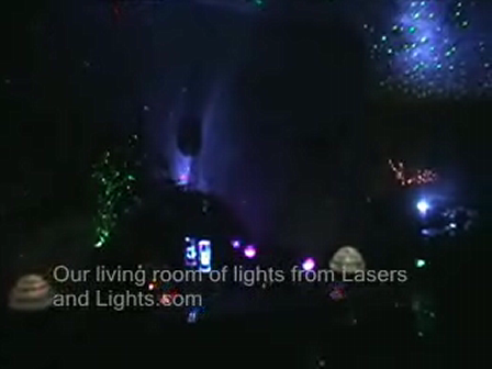 Our living room of lights from Lasers and Lights