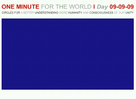 ONE MINUTE FOR THE WORLD - DAY 09-09-09 Statement Ephraim Isaac