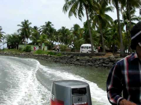 Speed boating at B.M.Lake near Ponnani in Malappuram district, Kerala, India !